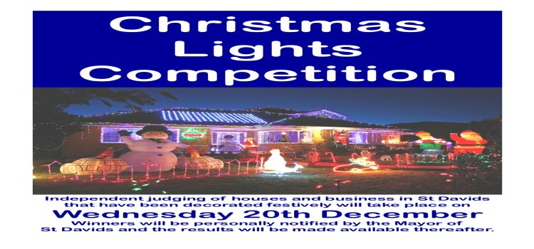 CHRISTMAS LIGHTS COMPETITION 2017