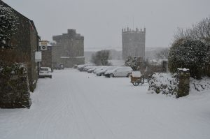 St Davids in the snow