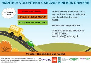 Wanted : Volunteer Car and Mini Bus Drivers